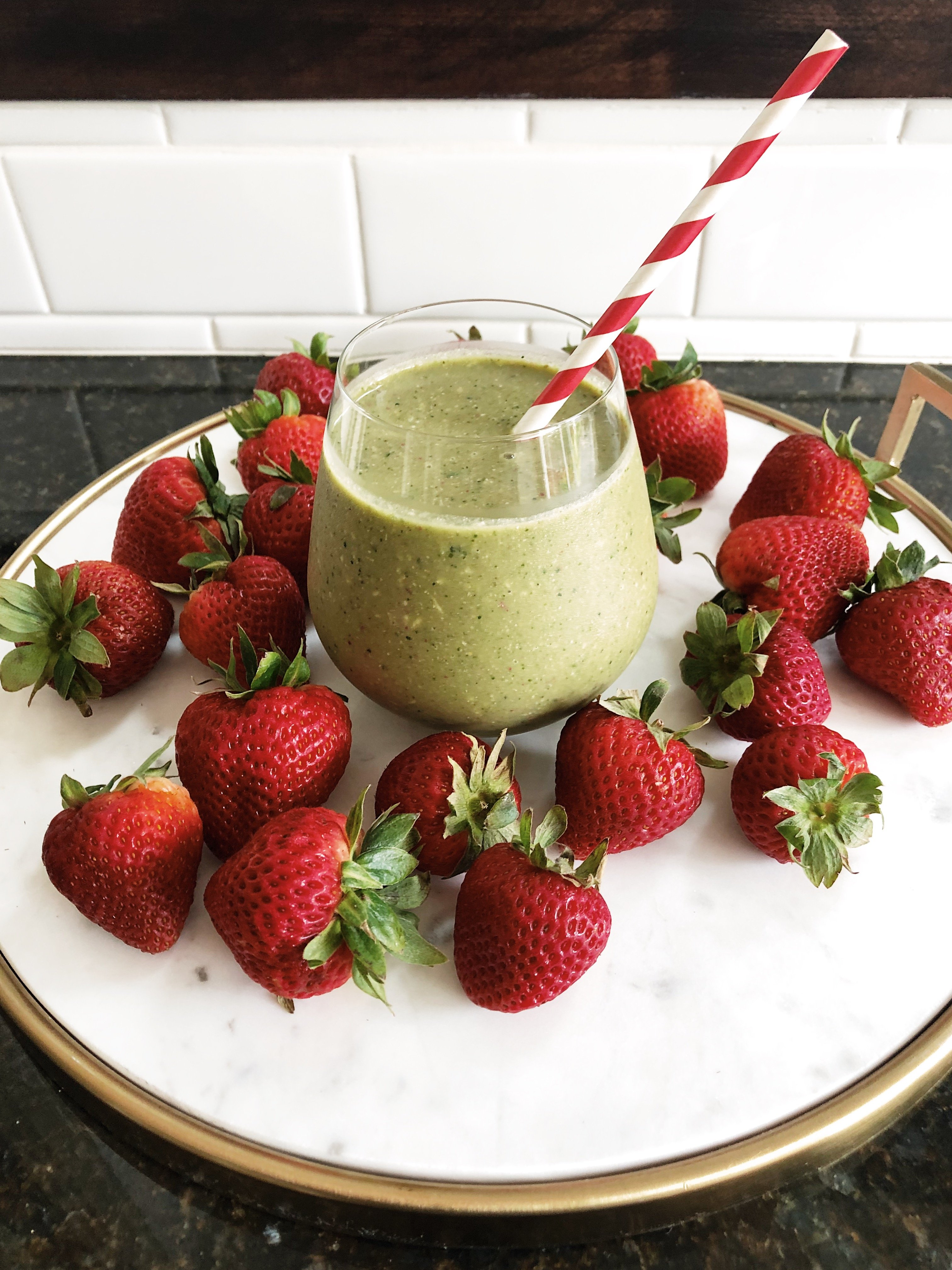 Image of strawberry maca smoothie