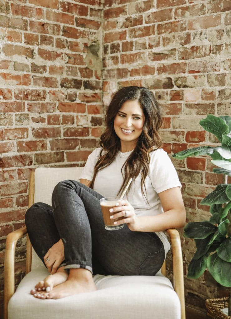 Image of Sarah Bridgeman with a smoothie