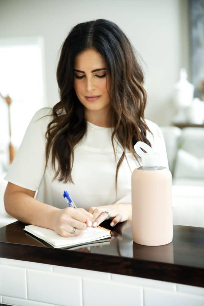 Image of Sarah Bridgeman making a list